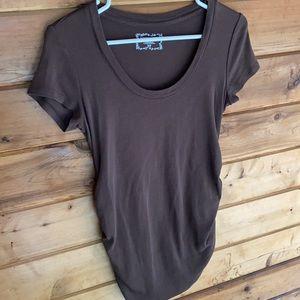 Motherhood Maternity Side Ruched T-Shirt